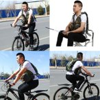 タックルバッグ用フライフィッシングバックパックベストコンボチェストパック、ウォーターブラダーポケット付き、調節可能、メンズレディースアウトドアスポーツ