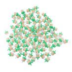 1/4インチのパイプ用燃料フィルター プラスチック製 インライン オートバイ 約100個入り 全3色 - 緑