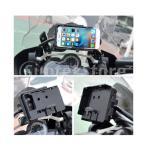 オートバイの携帯電話ホルダー、携帯電話マウントスタンド、BMW R1200GS LC&Adventure 2014-2017に適した充電器付きアンチシェイクスマートフォンブラケット