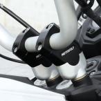 ユニバーサルモーターサイクルアルミハンドルバーライザーバーマウントブラケットブラック22mm