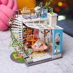 Perfeclan ドールハウス 3Dパズル ミニチュア DIY 木製 LEDランプ付き 建物キット 子供 おもちゃ - #4