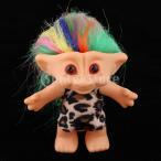 繊細な幸運トロール人形ミニアクションフィギュアおもちゃケーキ装飾ヒョウ