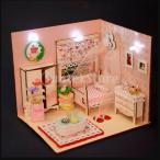 3色選択 1:24スケール DIYドールハウスモデル ベッドルーム リビングルーム 模型 ミニチュア - ピンク