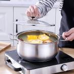 牛乳ソーススープ鍋ストックポットふた付きノンスティック調理器具B22cm
