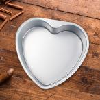 ハート型の厚みのあるアルミニウム合金チョコレートケーキパンDIYベーキングモールドツール6インチ