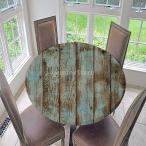 弾性テーブルカバー 円形 テーブルクロス 撥水加工 汚れ防止 全10色2サイズ ラウンド - スタイル3, 1.5m
