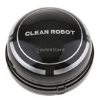 ミニ 卓上掃除機 乾電池式 キーボード 事務所 家具 ダストスイーパー 強力吸引 静音 - ブラック