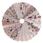 ミックスパターン 花柄&動物&果物など 麻綿 キルティング ファブリック 手作り DIY 生地 縫製素材 約31枚入り