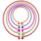 刺繍枠 刺繍わく 刺しゅう枠 刺繍フープ 5個セット 円形 手芸用品 全2サイズ - 1#