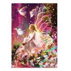 5D ダイヤモンドペインティングキット DIY 壁アート 壁掛け 新築飾り 転居祝い 花の妖精