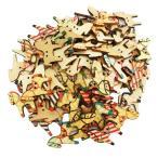 多色 ボタン 馬の形 2穴 木製 手芸用品 手作り 約50個