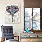 ダイヤモンドペインティングキット 5D DIY 絵画 装飾 壁掛け フクロウ/象 30×40cm 全3種 - エレファント