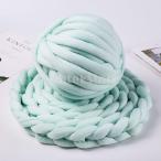 25メートル分厚いウール糸ソフトかさばるアーム編みウールロービングライトグリーン