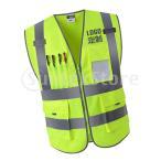 高い可視性の作業服の安全保証ベストのユニフォームXXLの光沢がある緑