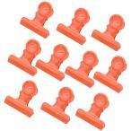 10個入りメタルヒンジクリップブルドッグペーパークリップクランプ/ファイルバインダークリップオレンジ