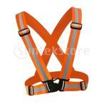 屋外安全反射ベスト弾性ベルト調節可能なバンドオレンジ