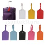 全8色 PUレザー 荷物タグ 安全タグ  旅行 スーツ ケース  ID ラベル