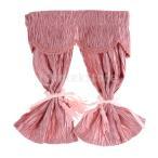 1/12ドールハウスの手作りの素敵なスタイルのサテンのシルクの長いカーテン
