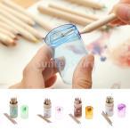 子供のためのシャープナーと12色の鉛筆ペンを書くミニ木製の絵