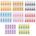 付箋 ステッカー 水彩紙 水彩画のメモ ラベル オフィス用品 約10個入り 全8色