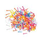 ノーブランド品 プラスチック 混合色 ゴルフティー ゴルフ 練習 トレーニング アクセサリー 約200本 全5サイズ選ぶ