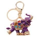 ノーブランド品 魅力的 ゾウ ペンダント キーホルダー ハンドバッグ 財布飾り ギフト 全8パタン