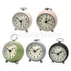 目覚まし時計 アナログ 静音 置き掛け両用 ナイトライト付き クォーツ時計  ベッドサイド 卓上時計