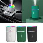 車載加湿器 220ml U充電式 ミニ加湿器 小型加湿器 LEDライト ミニコールドミスト加湿器 空気加湿器 デスク加湿器 ミスト 空気清浄機 定時機能 アロマ対応