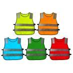 子供の安全ノースリーブ反射ベストのジャケットのチョッキ小学校男子女の子交通作業サイクリング服反射ストリップ