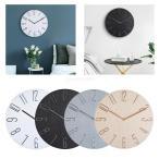 北欧風掛け時計 時計 木製 壁掛け 北欧 おしゃれ シンプル インテリア 全4色