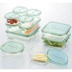 iwaki イワキ ガラス製 保存容器 パック&レンジ デラックスセット グリーン レンジパック 電子レンジOK