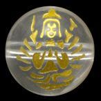 彫刻ビーズ 水晶 10mm (金彫り) 八大観音「千手観音」 天然石 パワーストーン/ビーズ
