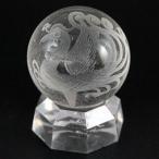 置物 インテリア 彫刻置物 丸玉 水晶20mm (素彫り) 朱雀 天然石 パワーストーン
