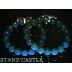 ☆高品質☆【ブレスレット】天然ブルー琥珀 (ブルーアンバー) (ドミニカ産) (約12.5〜13mm) (ケース付) 天然石 パワーストーン