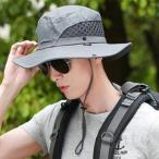 帽子 UVカットメンズ つば広ハット 折りたたみ可 釣り