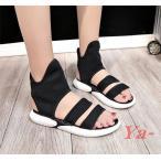 ショッピングブーツサンダル ブーツサンダル サマーブーツ 疲れない靴 レディース靴 痛くない靴 オシャレサンダル 美脚 韓国風 フラットシューズ オープントゥ ブーツ ズックブーツ