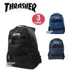 THRASHER スラッシャー バッグ リュック THRCD-501 ダブルベルト サイドメッシュポケット付き デイバッグ パック リュックサック 男女兼用 ag-837300
