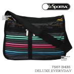 レスポートサック バッグ 7507 D435 LESTRIPE BLACK 斜め掛け ショルダーバッグ Deluxe Everyday Bag デラックスエブリデイ LESPORTSAC ag-861300