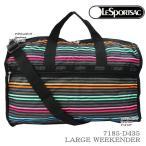 レスポートサック バッグ 7185 D435 LESTRIPE BLACK レストライプ ブラック ラージウィークエンダー LARGE WEEKENDER ボストン レスポ LESPORTSAC ag-874000