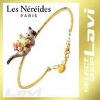 レネレイド Les Nereides AELA201/1 ネコモチーフ 猫 キャット カフ ブレスレット LOVES ANIMALS ラッピング無料