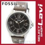 フォッシル メンズ 腕時計 大きめインデックス スタッズレザー ウオッチ FS4962 ラッピング無料