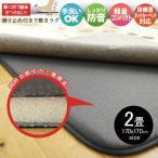 ラグ 下敷きラグ 厚手 防音 2畳 約170×170cm 厚手 ラグマット カーペット 極厚 ラグマット カーペット 床暖房対応 ホットカーペット対応 リビング ダイニング