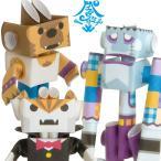 パイプロイド(PIPEROID) キャラクターズ ドラッキー&ウルフィー&フランキー 紙工作 ペーパークラフト 可動 ロボット 作成キット 知育玩具 卓上 グッズ 日本製