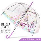 傘 レディース バードケージ ビニール傘 おしゃれ レディース かわいい かさ カサの画像
