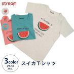 【ゆうパケット3点まで可】プリントTシャツ スイカTシャツ 半袖 カットソー レディース M L