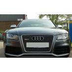 Audi アウディ B8 K8 前期 A5/S5用 /RS5用 RSタイプ ハニカム マットシルバーグリル /PTS有