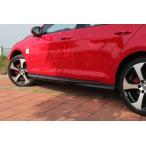 ワーゲン VW ゴルフ7 GTi用 カーボン サイドスカート サイドステップ 綾織