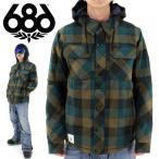 ショッピングスノーシューズ 686 スノーウェア スノボジャケット シックスエイトシックス ネルシャツジャケット  WOODLAND INS JACKET