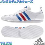 adidas VS JOG 白青赤 アディダス メンズ スニーカー adidas NEO レトロランニング ジョギング AW4701