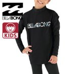 BILLABONG(ビラボン) キッズ 長袖ラッシュガード Tシャツ 黒 ロゴ柄 「90〜150cm」AG015851 BLK ブラック 「メール便」サーフブランド
